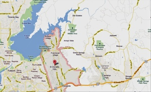 El Dorado Hills community map