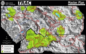 Map of trails master plan by the Sierra Buttes Trail Stewardship and TRAC