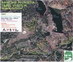 Rancho Murieta trail network map of River Section by Lakes Chesbro and Clementia.
