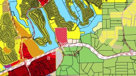 Sample of draft zoning map from the March 2011 community presentation in El Dorado Hills, CA.