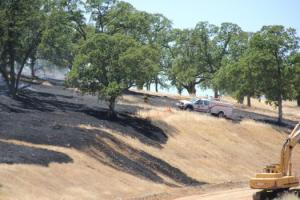 Fire along Empire Ranch in Folsom, CA