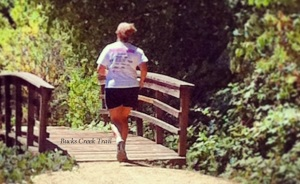 Trail runner on Bucks Creek Trail