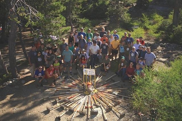 Sierra Buttes Trail Stewardship crew
