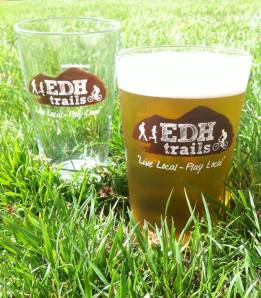EDH Trails pint glass